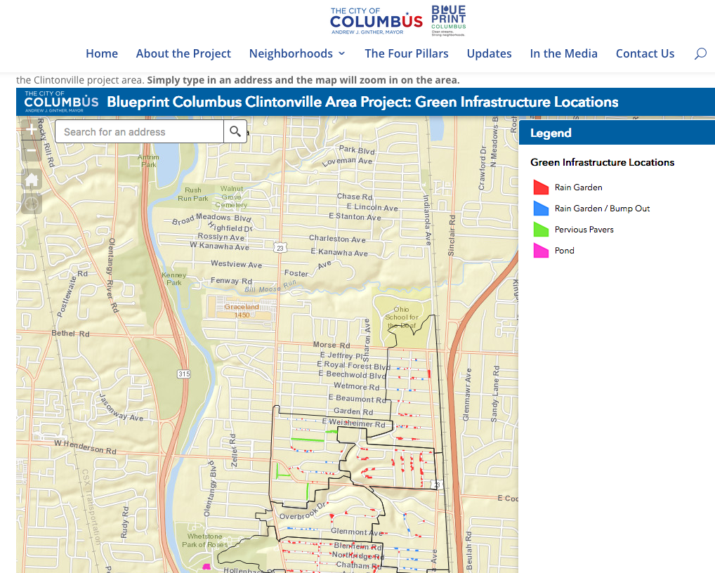 Preferences and perceptions of green infrastructure blueprint in 2015 columbus ohio submitted a wet weather management plan to the ohio epa entitled blueprint columbus which would eliminate 28 miles of sanitary malvernweather Images